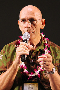 Elder Mel Palmer, a recently released senior missionary; Polynesian Cultural Center photo by Mike Foley