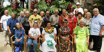 Former PCC labor missionaries; Polynesian Cultural Center photo by Mike Foley