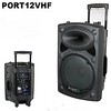 "Ibiza Port 12 PA  ;<br /> Built-in amp, 350W 12"", Max power: 700W, SPL: 97dB, Frequency response: 40Hz – 20kHz<br /> Built-in MP3 player<br /> Built in 2-channel VHF microphone<br /> Treble & Bass control<br /> Mic VOL & ECHO controls<br /> Master VOL control<br /> MIC & LINE input<br /> Built-in rechargeable battery, max 8u"