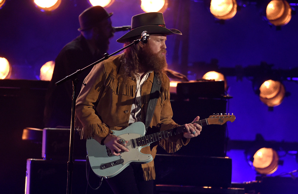 . John Osborne, of Brothers Osborne, performs at the 51st annual CMA Awards at the Bridgestone Arena on Wednesday, Nov. 8, 2017, in Nashville, Tenn. (Photo by Chris Pizzello/Invision/AP)