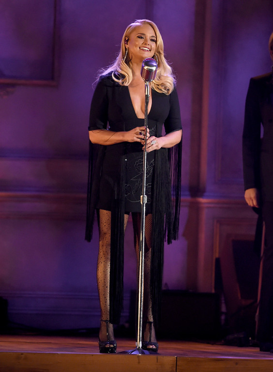 ". Miranda Lambert performs ""To Learn Her\"" at the 51st annual CMA Awards at the Bridgestone Arena on Wednesday, Nov. 8, 2017, in Nashville, Tenn. (Photo by Chris Pizzello/Invision/AP)"