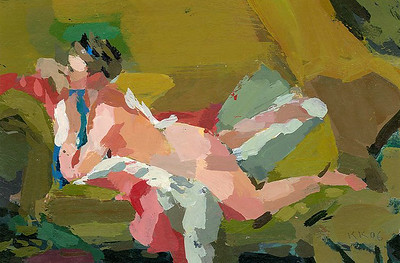 Nude on Sofa (after Boucher)