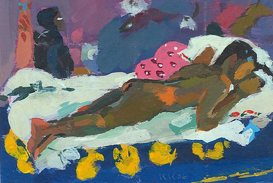 The Spirit of the Dead Keeps Vigil (after Gauguin)