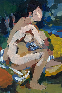 Female Nude in a Landscape (after Renoir)