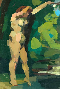 The Bather (after Courbet)