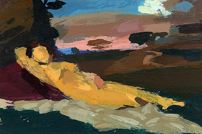 Sleeping Woman in a Landscape (after Titian)