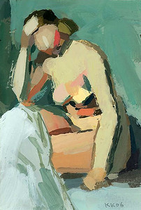 The Blonde Nude (after Derain)
