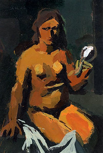 Nude with Mirror (after Sironi)