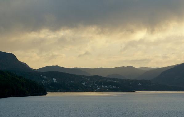 Week 45 - Mona - Morning Light saling in Corner Brook Harbour 2