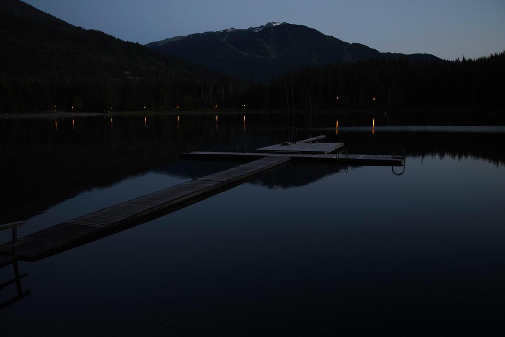 Fly fishing at Lost Lake at dusk