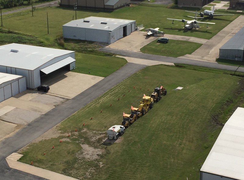 7/29/17.....Staging area for new runway equipment