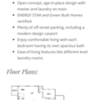 Features and floor plans