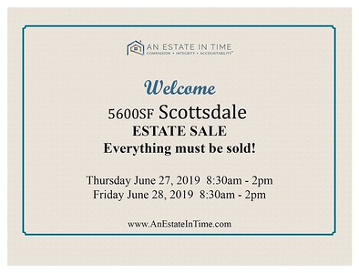 Estate Sale Photo Message-welcome SALE SIGN