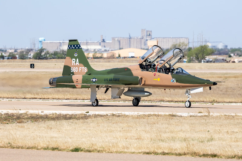 "-(Aircraft) Northrop T-38C Talon<br /> -(Nation & Service) United States Air Force<br /> -(Squadron) 560th Flying Training Squadron ""Chargin' Cheetahs""<br /> -(Home Base) Randolph Air Force Base, Texas"