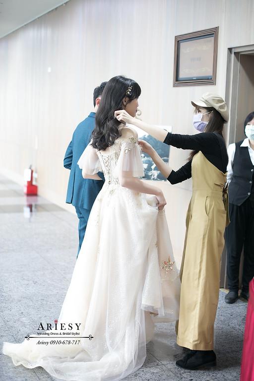 黑髮新娘,名媛新娘造型,大波浪捲新娘髮型,新娘秘書,台北新秘推薦,ariesy