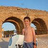 Boogie boarding in Cesarea Israel