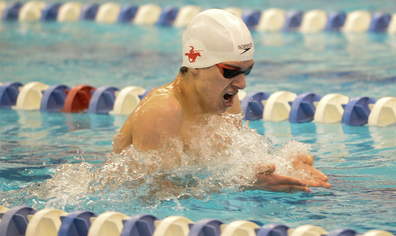 Fairview's Michael Zarian won the 200 Yard IM at the 5A Boys State Swimming Championship on Saturday, May 21, 2016 at the Air Force Academy. Photo by Spotlight Sports Photography.