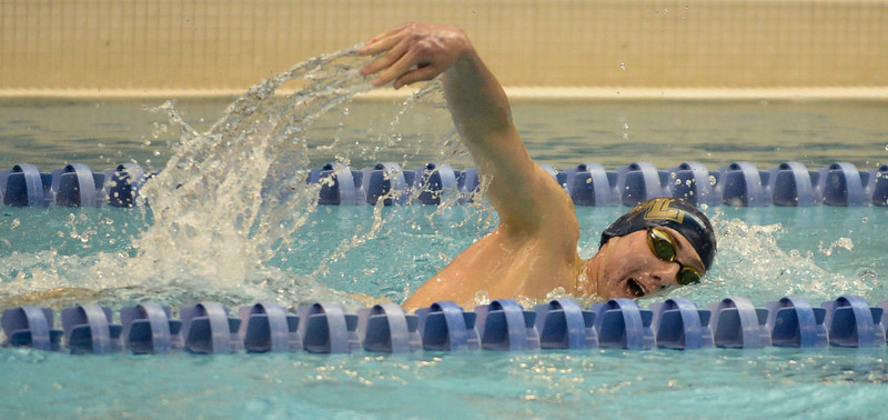 Legacy's Daniel Bradford during the 500 Yard Freestyle at the 5A Boys State Swimming Championship on Saturday, May 21, 2016 at the Air Force Academy. Photo by Spotlight Sports Photography.