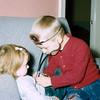 '58-3-Checking his sister, Donna