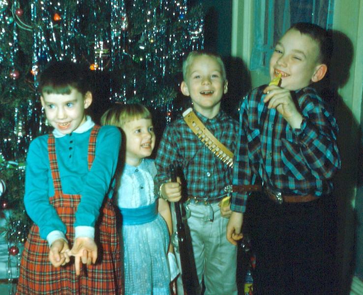 '58-Cousin Wende, Donna, Glenn & cousin Mark