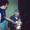 '74-Bev, her Dad & Heather