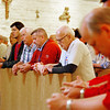 Men pray the Divine Mercy Chaplet during the 2016 North Texas Catholic Men's Conference in Grapevine. (Photo by Lance Murray / NTC)