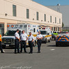 Atlantic EMS units staging up the street from the fire.