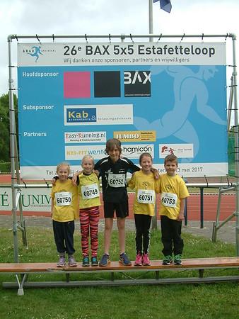 BAX 5x5 Estagette teamfoto's