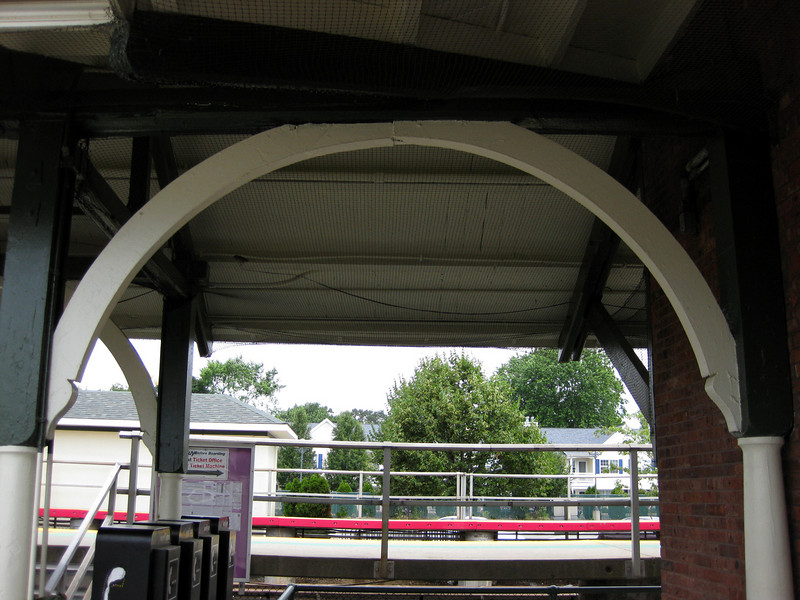 The Farmingdale Train Station was originally built in 1841, when the Long Island Rail Road (LIRR) was extended to run through the Village of Farmingdale, NY. It was rebuilt in 1875 and again in 1890. The station is along the Ronkonkoma Branch (Main Line), and has two high-level side platforms, each the equivalent of 12 train cars in length. The north platform is generally used by westbound trains heading to New York City, and the south platform is used by eastbound trains. <br /> <br /> In 1994 TE funding was awarded to restore the historic structure. The project included replacing damaged brick and the roof, restoring the wooden interior of the waiting room, and creating an on-street bikeway. Federal Award: $175,500.00; Local Match: $49,500; Total: $225,000