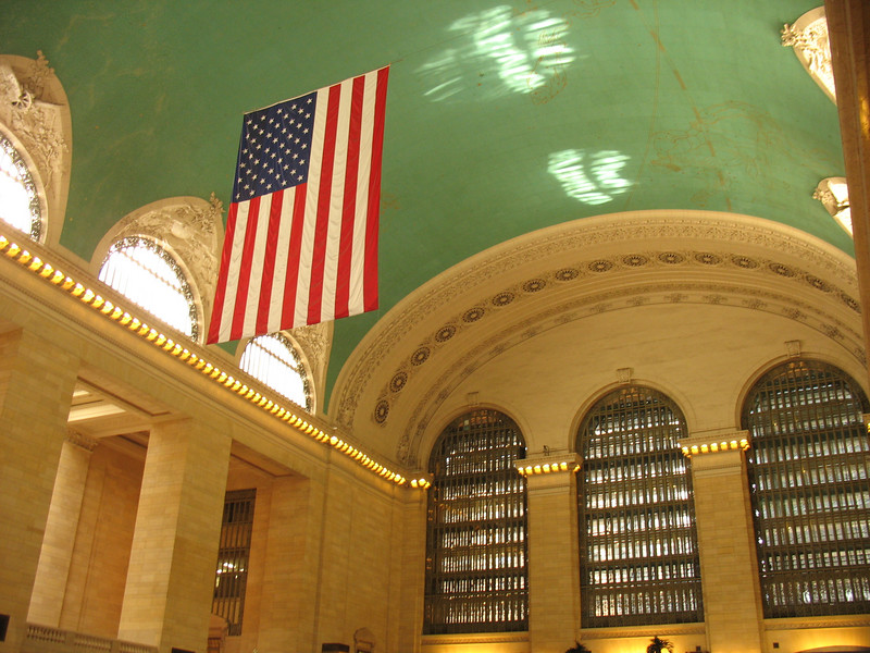 Prior to 1998, the ceiling of grand Central Station was dark, grimy, and covered by tobacco smoke and tar. After receiving $2,481,730 in TE money, matched by $2,279,648 of local funds, travelers can once again see the starry, unblemished night sky. The original ceiling was painted in 1912 by French artist Paul Cesar Helleu and depicted an elaborate map of the constellations. One oddity about this original ceiling, however, is that the sky is painted backwards, possibly due to human error or a deliberate attempt to paint the sky as seen from outside the celestial sphere. When the ceiling was restored, all of these features were made visible once again, except for one patch that was left dark to remind people of how dirty the ceiling had once been.
