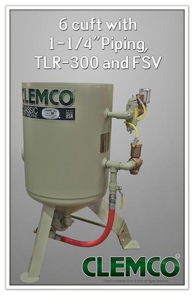 6 cuft Classic Blast Machine with TLR300, FSV