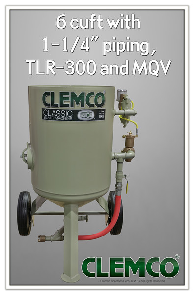 6 cuft Classic Blast Machine with TLR300, MQV