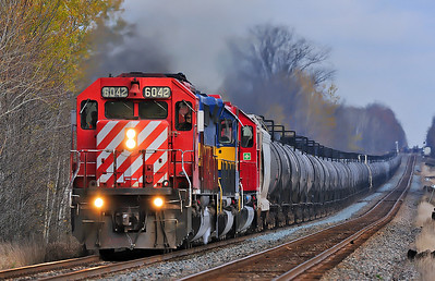 Canadian Pacific #643, CP Winchester Subdivision, October 30 2013.