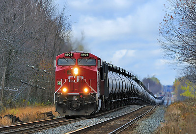 Canadian Pacific #608, CP Winchester Subdivision, Oct 29 2013