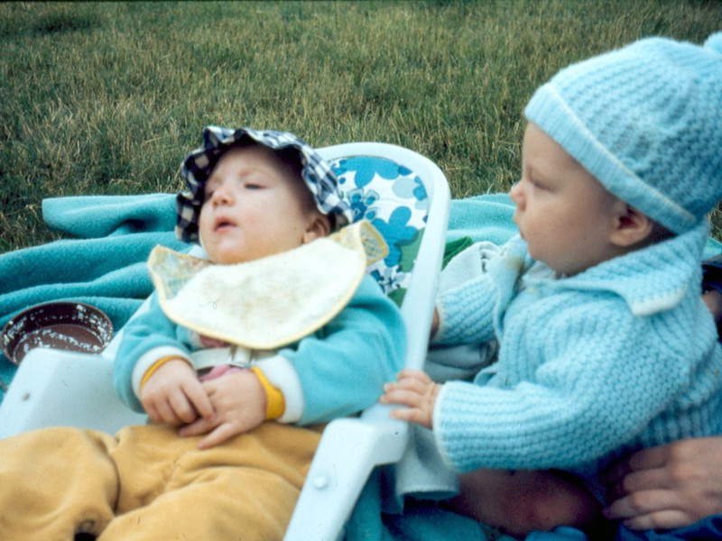 1-'74-Heather & cousin Chris