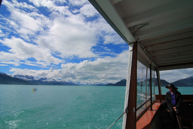 aboard the Sea Wolf in Glacier Bay, AK