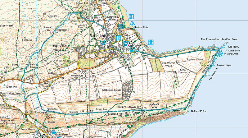As usual the blue trace is of the route walked in a clockwise direction