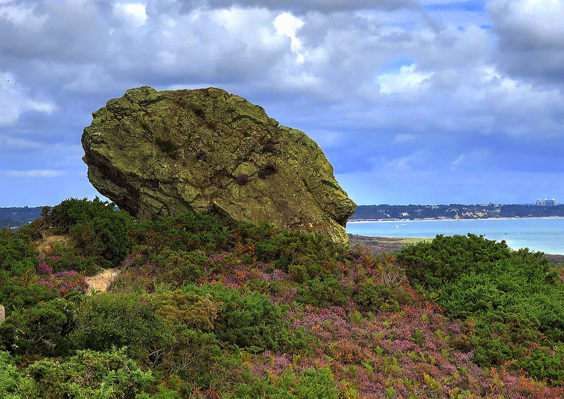 Agglestone Rock, said to have been thrown by a giant from the Isle of Wight