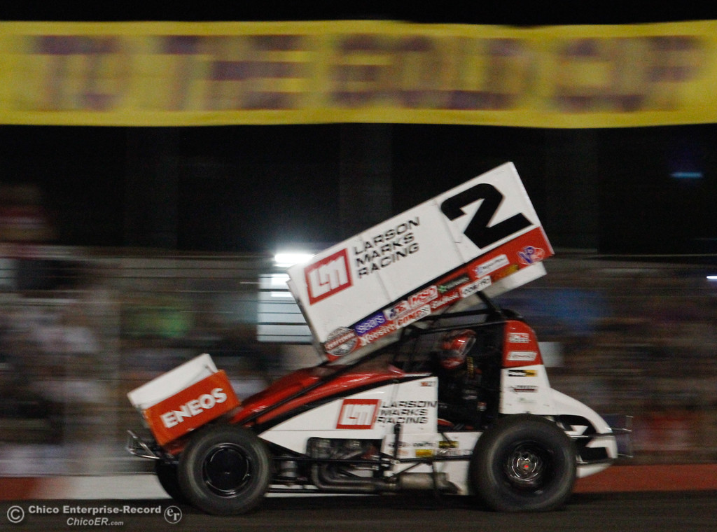 . Shane Stewart takes home the win at the 64th annual Gold Cup Race of Champions Saturday September 9, 2017 at the Silver Dollar Speedway in Chico, California. (Emily Bertolino -- Enterprise-Record)