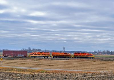 Quebec Gatineau Wind Tower Train, Yamachiceh Qc, December 6 2015.