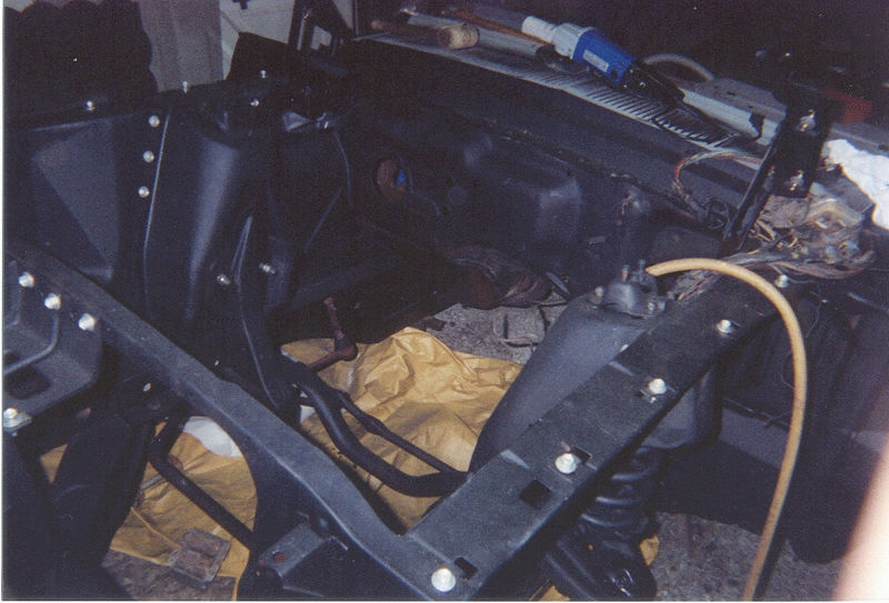 Engine bay repaired, Spring 2000