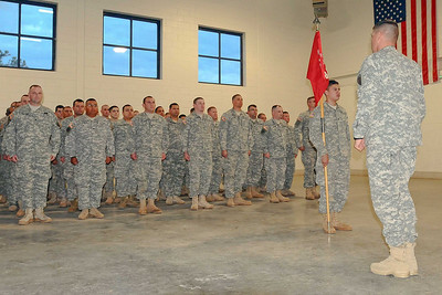 In this image released by the Texas Military Forces, Soldiers with Joint Task Force 71 conduct a change of command ceremony for the 836th Engineer Company at Camp Swift, Texas, February 4, 2012. The ceremony marked the transfer of authority for the sapper unit from Cpt. Michael Miller to 1st Lt. Joseph Meller.