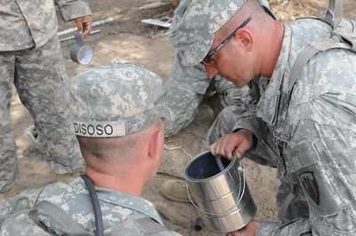 In this image released by the Texas Military Forces, Soldiers with the 836th Engineer Company conducted demolition training on Camp Swift, Texas, Tuesday, July 26, 2011. Combat engineers use explosives to disable minefields and other obstacles intended to stop friendly forces from advancing on the battlefield during wartime missions but also train on search and extraction techniques for homeland response. The 836th carried out the exercise as part of their Annual Training.  (Photo/Joint Task Force-71, Army National Guard Staff Sgt. Melissa Bright)