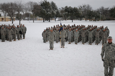 In this image released by the Texas Military Forces, Army National Guard Soldiers and Airmen with the CBRNE Battalion Task Force pause for a group photo in Fort Worth, Texas, Friday, Feb. 4, 2011. The Soldiers and Airmen deployed to North Texas as part of a training exercise by Joint Task Force 71 that focused on providing support to civilian authorities before and during the Super Bowl, as well as conducted training to develop new, future response capabilities.  CBRNE includes Air and Army National Guard members to deploy security, engineering, chemical decontamination and medical assets. (Photo/100th Mobile Public Affairs Detachment, Army National Guard Sgt. Melissa Bright)