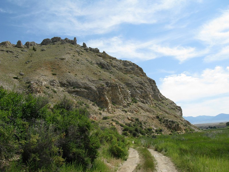 """View of Beaverhead Rock from the road around the rock. The county and all types of things around this area are named after """"Beaverhead""""."""