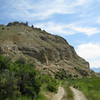 "View of Beaverhead Rock from the road around the rock. The county and all types of things around this area are named after ""Beaverhead""."