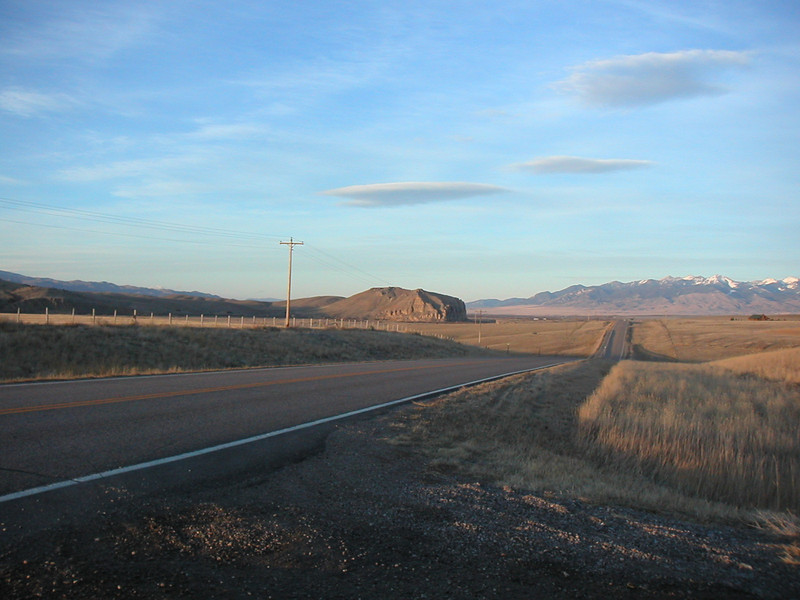 Beaverhead Rock in the distance looks like a beaver swimming with its head above water.
