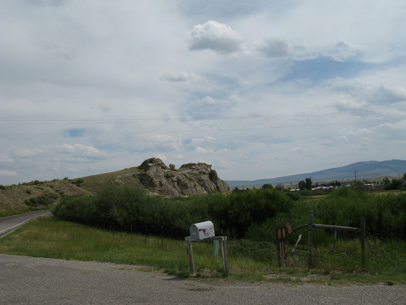 Clark's Overlook Rock is located about 2 1/2 miles northwest of Dillon Montana. Today the rock is a State Park. This is where Clark's main party finally ran out of navigable water for their dugout canoes.  Lewis had been out for weeks with a small crew looking for horses to purchase.