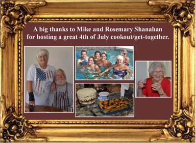 7-4-17 4th of July cookout with Mike and Rosemary Shanahan