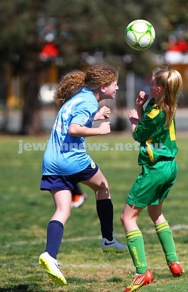 7-9-14. North Caulfield Junior Football Club Girls U 13/14 Gold lost to ladder leaders Ashburton United 0 - 2 at Duncan Mackinnon Reserve. Photo: Peter Haskin